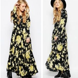 FP first Kiss floral long sleeve maxi dress